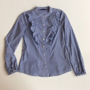 Tommy Hilfiger Striped Button Down Shirt Blouse